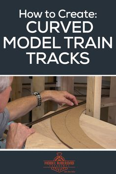 Learn how to make curved model railroad track templates for your layout with cardboard and an adjustable trammel. Train Plan, Train Info, N Scale Model Trains, Model Train Layouts, Scale Models, Escala Ho, Model Training, Thing 1, Ho Trains