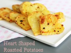 heart shaped roasted potatoes
