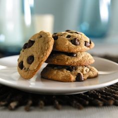 Splenda Brown Sugar Blend Chocolate Chip Cookie: I made these with plain yogurt instead of butter--so tasty and very fluffy...think whoopie pie-like.