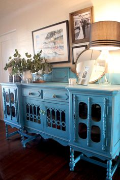 To update an antique, paint it a bright color