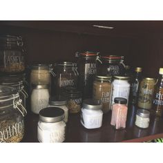 My zero waste pantry! I used a paint pen for the lables!