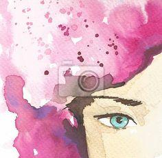 Canvastavla Illustration av abstrakta porträtt av en kvinna • Pixers® - Vi  lever för förändring 6a2f02557cdf9