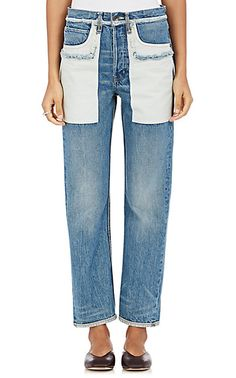We Adore: The Cotton Inside-Out-Pocket Jeans from Helmut Lang at Barneys New York