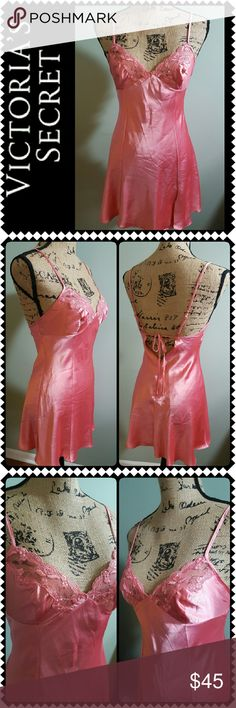 Victoria's Secret Sleepwear Night Gown New Victoria's Secret Signature Sleep Wear, Lovely Night Gown in Gorgeous in Dark Peach Shade! Adjustable Spaghetti Straps, Silky Feel All Throughout with Lace Details on Chest Area, New without Tag! Victoria's Secret Intimates & Sleepwear