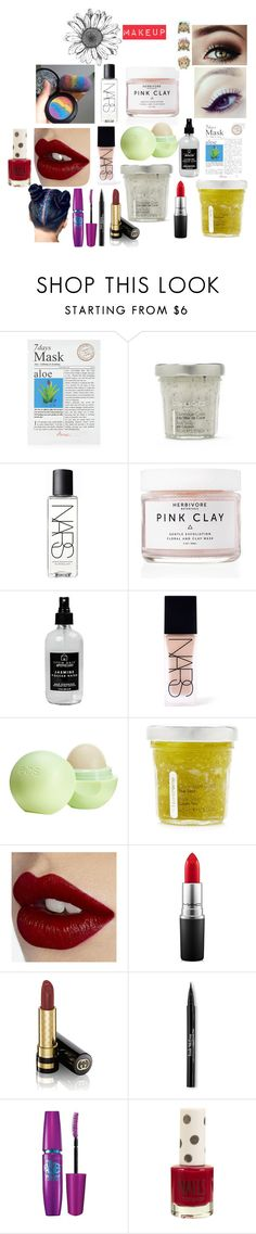 """""""Makeup/Cosmetics/HAir"""" by ayeitssarah on Polyvore featuring beauty, Forever 21, NARS Cosmetics, Herbivore, Little Barn Apothecary, Eos, Charlotte Tilbury, MAC Cosmetics, Gucci and Trish McEvoy"""