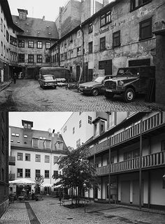 Photographer Stefan Koppelkamm first photographed East Germany in 1990 after the fall of the Berlin Wall but before the reunification. He revisited the same locations a decade later, and rephotographed them from exactly the same viewpoints to document the drastic social and economic transformations that came about during the time between the photos.