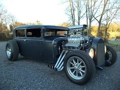 Blown 1930 Ford Model A Sedan/chopped Carros Audi, Classic Hot Rod, Ford Classic Cars, Classic Motors, Sweet Cars, Ford Models, Hot Cars, Hot Wheels, Muscle Cars