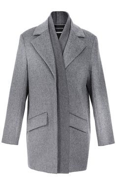 Shop Brushed Wool Rib Front Coat by Thakoon for Preorder on Moda Operandi