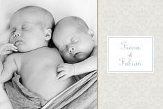 Geburtskarte Arabesk Zwillinge by Tomoë für Rosemood.de #Babykarte #Geburtskarten