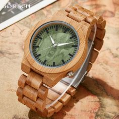 ==> [Free Shipping] Buy Best Creative Personality Green Bamboo Watch Mens Scale Natural Wooden Analog Bracelet Male Japen Quartz Movement Wristwatches Clock Online with LOWEST Price | 32810474095