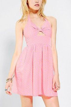 Awesome Urban Renewal Cutout Halter Dress - Urban Outfitters wear Check more at http://fashionie.top/pin/37578/