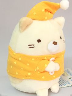 Product Name : San-X Sumikko Gurashi Plush Doll Neko Cat Manufacture :San-X Condition : Brand New Include : San-X Sumikko Gurashi Plush Doll Neko Cat x 1 Size:About H:12 x W:9 x D:8cm