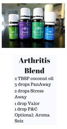 Essential Oil blends can be effective for pain relief from arthritic conditions