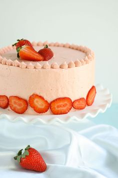 This homemade strawberry cake is as delicious as it looks!!! This is the best strawberry cake recipe you'll ever make or eat. Pinky swear.