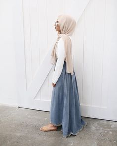 """1,756 Likes, 5 Comments - Hijab House (@hijab_house) on Instagram: """"The Denim Scallop skirt makes you feel like a mermaid. ♀️"""""""