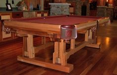 Timber Frame Pool Table Item #PG01202 7ft. or 8ft. - $9995 Custom Felt Options Available