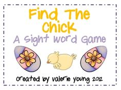 Recommended grades 1-4 This is a cute sight words game for Easter time! This game includes 33 sight words and blank cards to add your own. Students read the sight   words and turn over the cards. The goal is to find the missing chick under the cards! I'd love some feedback if you download this game. Check out my blog for more games and freebies!  www.growuplearning.blogspot.comwor