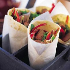 This succulent lamb wrap with an oriental twist makes the perfect crowd pleasing lunch or dinner. You can even prepare all of the ingredients and set them in the middle of the table and let everyone assemble their own.