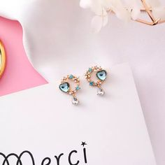 Heart Earrings, Stud Earrings, Jewelry, Jewlery, Bijoux, Ear Gauge Plugs, Jewerly, Stud Earring, Jewelery