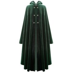 Victorian Vagabond Hooded Steampunk Gothic Medieval Cape Cloak ($79) ❤ liked on Polyvore featuring jackets, capes, cloak and medieval