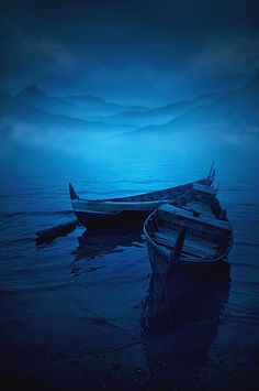 "if there is one water in Europe I want, it is the black cold pool where into the scented twilight a child squatting full of sadness, launches a boat as fragile as a butterfly in May."" ~Rimbaud Photo by: Teuku Jody Zulkarnaen Azul Pantone, Image Bleu, Foto Nature, Love Blue, Im Blue, Blue Aesthetic, Blue Moon, Ciel, Belle Photo"
