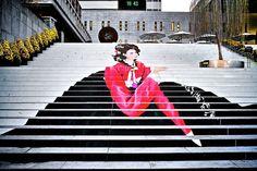 Musical theater staircase Seoul, South Korea