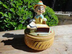 Sold-Vintage Walt Disney Pinocchio and Jimminy Cricket by AskMeDecor,