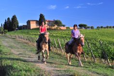 You can also go horse riding when you stay with Me+ Mom in Tuscany.