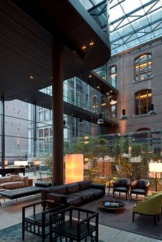 Amsterdam Hotel. This is beautiful. Modern, simple, but cozy, and love the outdoor, green elements