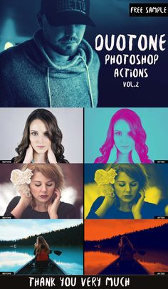 Free Sample Duotone Photoshop Actions from Duotone Bundle Vol.2