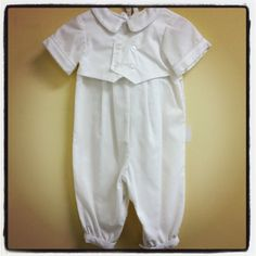 Baby Boy Baptism Outfit sz 3-6m. $45.00, via Etsy.