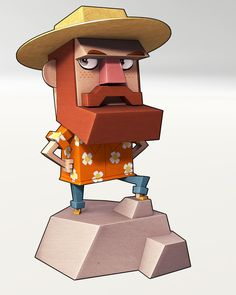 Uncle Handy - Monster Life by Thiago Carneiro, via Behance 3d Model Character, Game Character Design, Character Design Animation, Character Creation, Character Design Inspiration, Character Concept, Game Design, Character Art, Concept Art