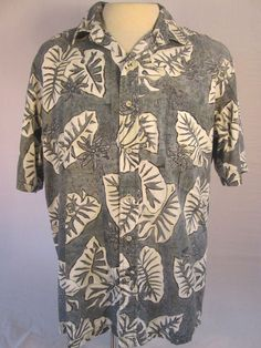 ISLAND TRADITIONS of HAWAII Mens XL Multi-color Hawaiian Shirt 100% Cotton #IslandTraditionsofHawaii #Hawaiian
