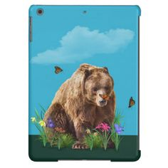 Bear and Butterflies Fantasy Cover For iPad Air