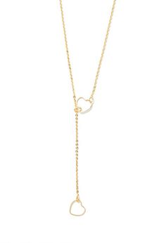 Cutout Heart Lariat Necklace | Forever 21 - 1000173675