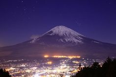 Night view and Fuji