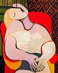 Пабло Пикассо -Сон (натурщица Мари-Терез Вальтер), 1932
