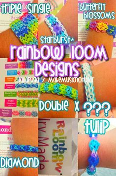 The many designs of rainbow loom
