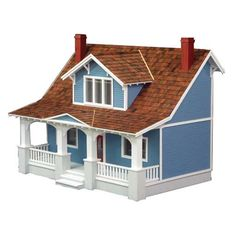 Classic Bungalow Dollhouse by Real Good Toy-Isn't this charming! Nantucket right in your home. I love the large porch and the concept seems to have a lot of potential!