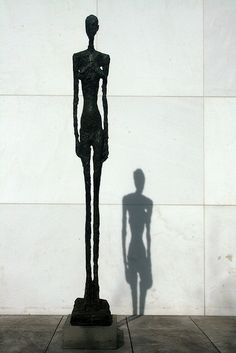 , by Alberto Giacometti.I like how small the shadow looks in comparison. , by Alberto Giacometti.I like how small the shadow looks in comparison. Alberto Giacometti, Giovanni Giacometti, Ai Weiwei, Contemporary Sculpture, Contemporary Art, Antoine Bourdelle, 3d Fantasy, Human Art, Installation Art