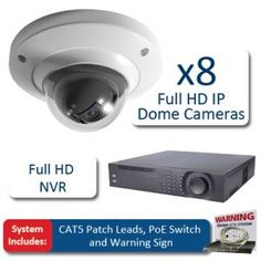 BestCCTVprices.co.uk, Dome 8 Camera Full HD IP CCTV Kit, HD IP CCTV Systems, Complete CCTV Systems - HD IP CCTV Systems