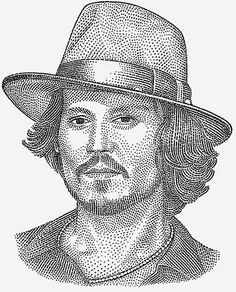 Kevin Sprouls creates WSJ Hedcut images for Playboy