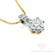 Saachi 'Poppy' Diamond Pendant  www.paradisesfacet58.com.au  The 'Saachi' Poppy Diamond pendant was originally designed and handcrafted to represent unique  elegance and has proven to be the perfect gift for the Bride to wear on her special day.
