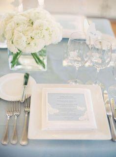 Оформление свадьбы в пыльно-голубом цвете