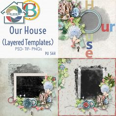 Digital Art :: Quick Pages :: Our House Layered Templates Pack