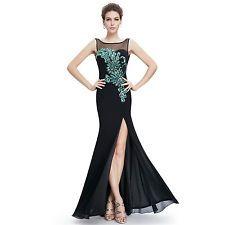 08759BK Women's Sexy Long Evening Party Dress US size 6 #dresses #fashion #style #women #trend