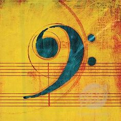 Bass clef... This would be pretty on the wall of my future music room!
