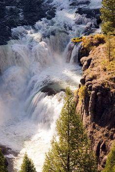 Rafting descent of Mesa Falls, Snake River, Idaho