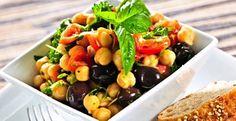 Chickpea and Basil Salad #recipe