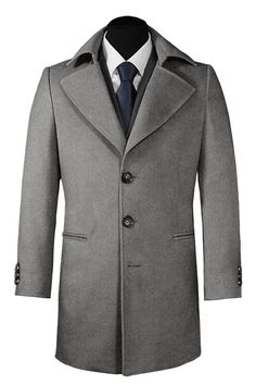 Grey Cashmere & Wool Coat http://www.tailor4less.com/en-us/men/coats/2092-grey-cashmere-wool-coat